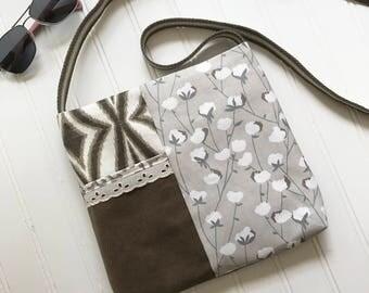 Small Crossbody Bag, Small Purse, Crossbody Sling, Crossrobdy Purse, Gray Purse