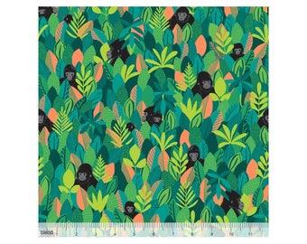 Coton imprimé Gorilles dans la jungle by Blend Fabrics .x1m