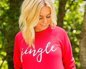 Christmas Sweatshirt, Red Christmas Sweatshirt , Christmas Party, Jingle, Christmas Sweater, Red Christmas Shirt, Christmas Shirt for Women