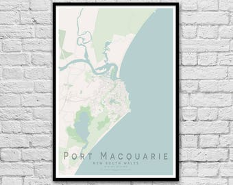 Port Macquarie QLD City Street Map Print | Wall Art Poster | Wall decor | A3 A2