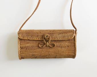 Envelope // Rattan Woven Basket Bag