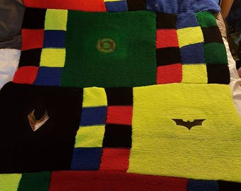 Justice league inspired single bed blanket