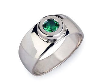 sale 20 off aura silver emerald band emerald wedding band green emerald - Emerald Wedding Ring