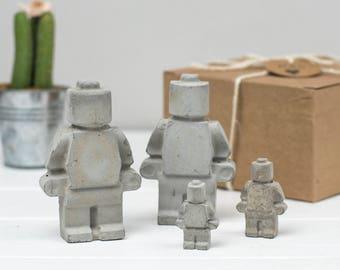 Desk Accessories – Gift For Him – Concrete Decor –Gift For Dad– Concrete Gift - Gift Set For Men - Lego Gift - Christmas Gift - Concrete