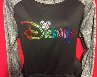 Disney World Mickey Mouse Rhinestone crystal women's Bling  HOODIE  Medium, Large, X Large, XX Large LIMITED Quantities!