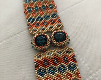 Bright peyote sead bead bracelet