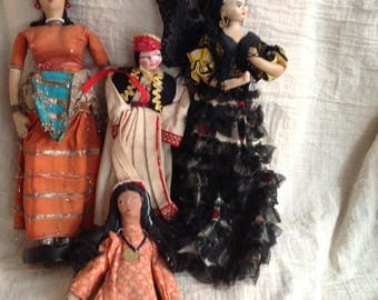 4 vintage dolls antique doll collection