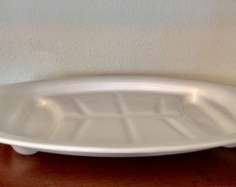 Vintage Corning Ware Blue Cornflower Oval Meat Serving Platter, Made in the US