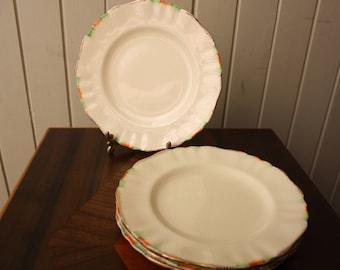 J&G Meakin Sunshine cake plates (4)