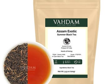 Exotic Assam Tea Leaves with Imperial Golden Tips, Harvest, Black Tea - Malty, Rich & Flavoury (50 Cups) Direct from India