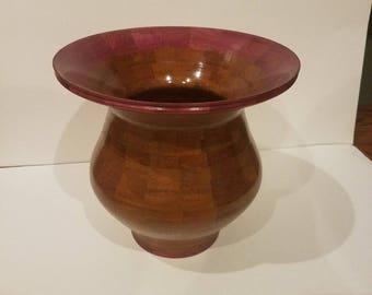 Beautiful Wooden Handmade Segmented Vase, Wood Turning