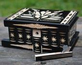 Mystery box, Wooden puzzle box, Carved wooden box, Magic box Trinket box, Secret box, Hidden compartment box, Wood stash box Personalized