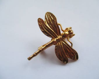 Vintage Gold Tone, Dragonfly Brooch, Dragonfly, Dragonfly Brooch, Dragonfly Pin, Bug Brooch, Bug Jewellery