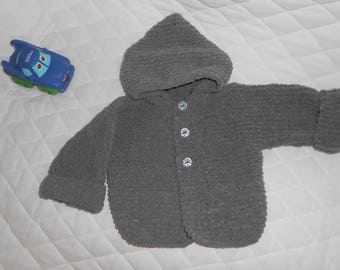 charcoal gray 1-3 months baby Cardigan