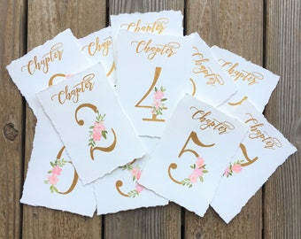 Watercolor Table Numbers | Wedding Table Numbers | Painted Table Numbers | Handmade Table Numbers