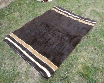 Kilim rug,Free shipping !,Turkish vintage rug goat hair rug,blanket,flat weaving rug,ethnic rug,vintage blanket 72'' x 51'' ,bohemian rug !