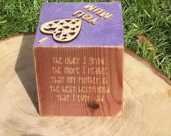 Wooden Photo Block, Photo cube, photograph display, hand transferred photos, shabby chic, gift idea, Christmas gifts , gifts for family