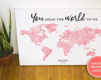 Alternative us map fidor watercolor world map wedding guest book guest book alternative you mean the world to gumiabroncs Image collections