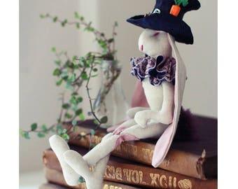 Ooak art doll, soft toy, steampunk doll, handmade hare