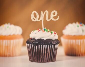 12 glitter ANY number cupcake topper, glitter cupcake toppers, birthday decorations, cupcake toppera