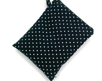 20 % off [ orig. 14.99 ] Polka dot Wet bag, swim suit bag, Bikini bag, Diaper bag, Bathing suit bag, wet dry bag, Travel bag, Gift