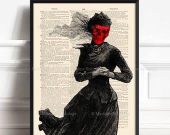 Dark Art goth Art Horror Art Skull Print Gothic Art Print Dark Painting Zombie Print Gothic Decor Goth Painting Poster Skull Art 83