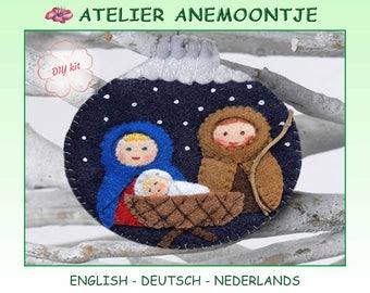 DIY Christmas Joseph, Mary and Baby Jesus
