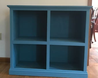 Blue Bookcase small bookcase | etsy
