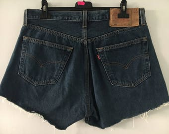 Levis 501 High Waisted Shorts Size 33/34