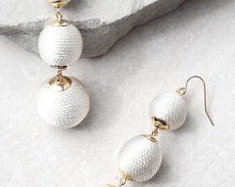 Bon Bon Earrings, Les bon bons earrings, Crispin Drop Earrings, Triple Ball Earrings, Ball Drop Earrings, Gumdrop Earrings, Thread ball