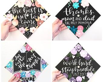 Graduation cap, Custom graduation cap, graduation cap topper