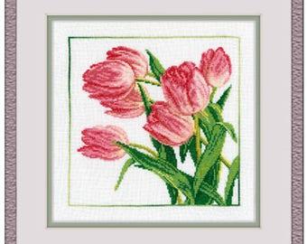 "A Brand New Cross Stitch Kit ""Tulips"" RTO"
