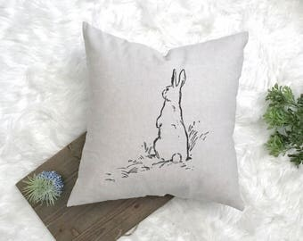 Easter Decorations - Spring Farmhouse Easter Pillow - Farmhouse Decor - Farmhouse Pillow - Peter Rabbit Nursery - Easter 2018 - Minimalistic