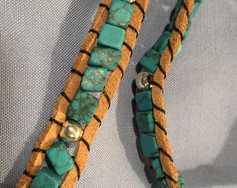 Boho wrap bracelet done in southwestern chic
