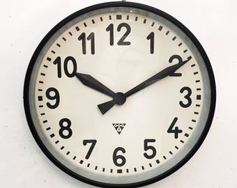 Large Industrial Factory Wall Clock by Pragatron