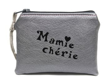 grandma's gift wallet in imitation silver leather
