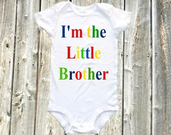 Little Brother onesie- baby shirt, little brother baby bodysuit, one-piece shirt - I'm the little brother, new baby, new little brother