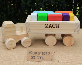 Zach - Custom Handmade Wooden Truck w/ blocks