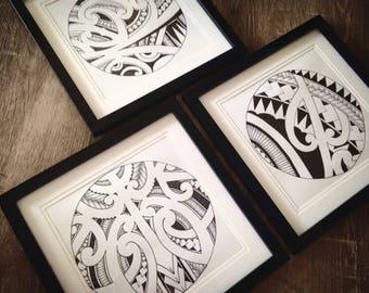 Urban maori print set