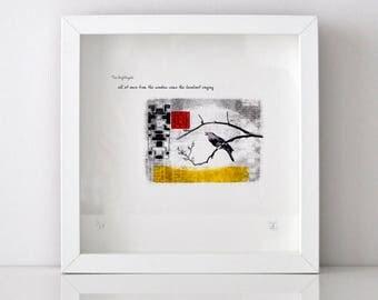 Fine Art Giclee Print - 'The Nightingale' Fairy Tale - Unframed