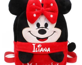 personalized red minnie bag