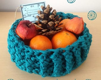 Home decor - basket fruit crocheted