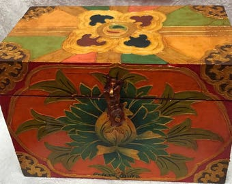 Tibetan Painted Box