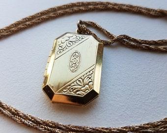 Gold Tone Locket Necklace