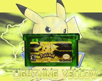 Pokemon Lightning Yellow fan made hack GBA Gameboy Advance