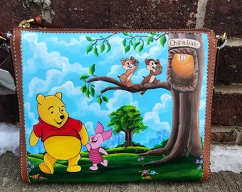 Winnie the Pooh Handpainted Fossil crossbody handbag