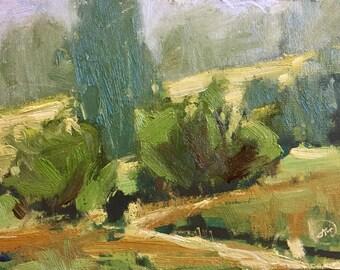 "Original Oil Painting Boise Idaho Landscape ""Rimrock Reserve"" 5X7"" Plein Air"