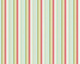 """ON SALE My Mind's Eye for Riley Blake- """"Just Dreamy """"  Stripes Cotton  (1 1/3 yard)   Remnant"""