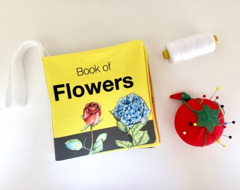 Quiet book of flowers | Montessori toddle quiet book, baby busy book, montessori toys, sensory toys, numbers and colours, baby soft books