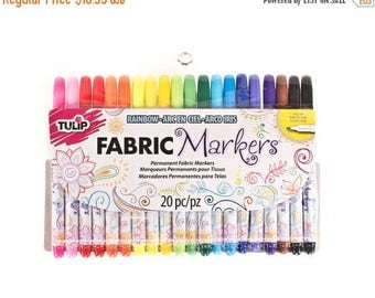 SALE ENDS SOON Fabric Markers, Tulip Markers, Markers for Color Me Pillows, Craft Markers, Kids Craft Supplies, 20 pack